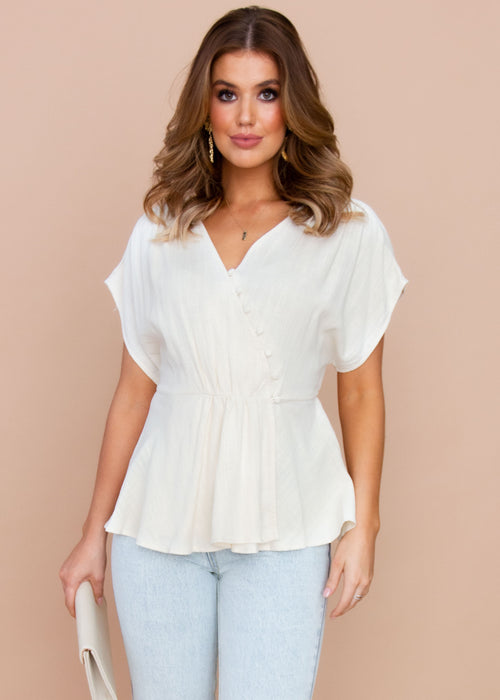 Sundown Blouse - Beige