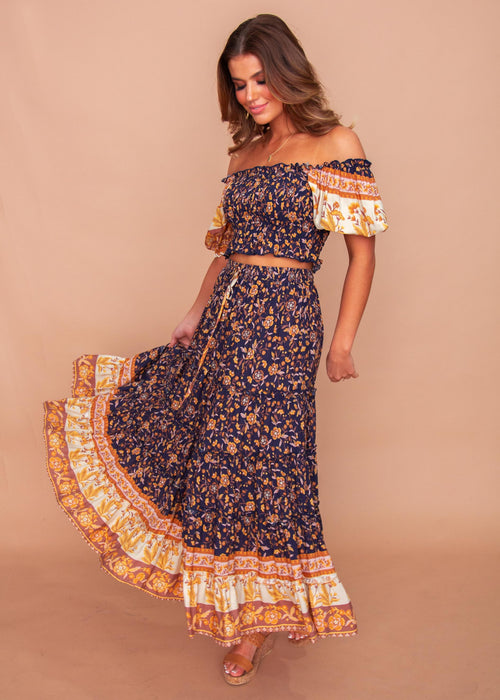 Women's Jaycee Maxi Skirt - Twilight Fields