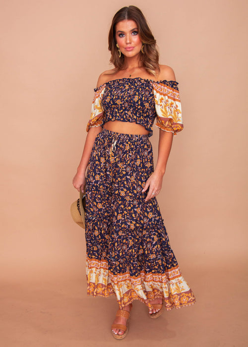 Jaycee Maxi Skirt - Twilight Fields