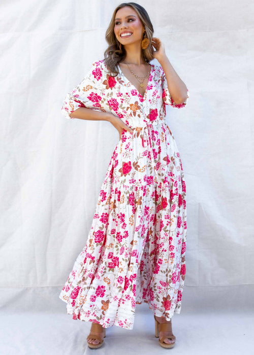 Zella Maxi Dress - Pink Floral