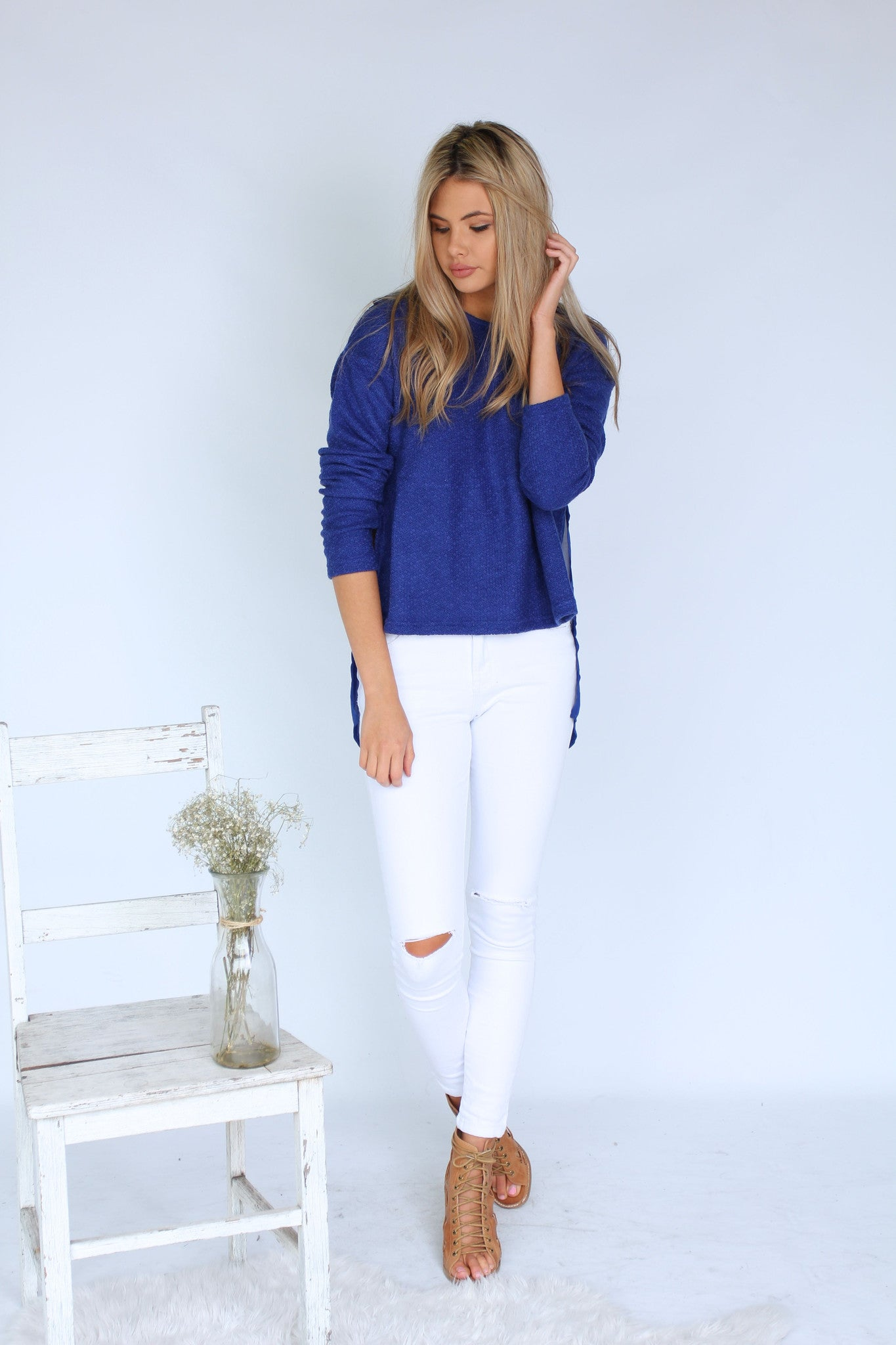 Swept Away Jumper - Blue