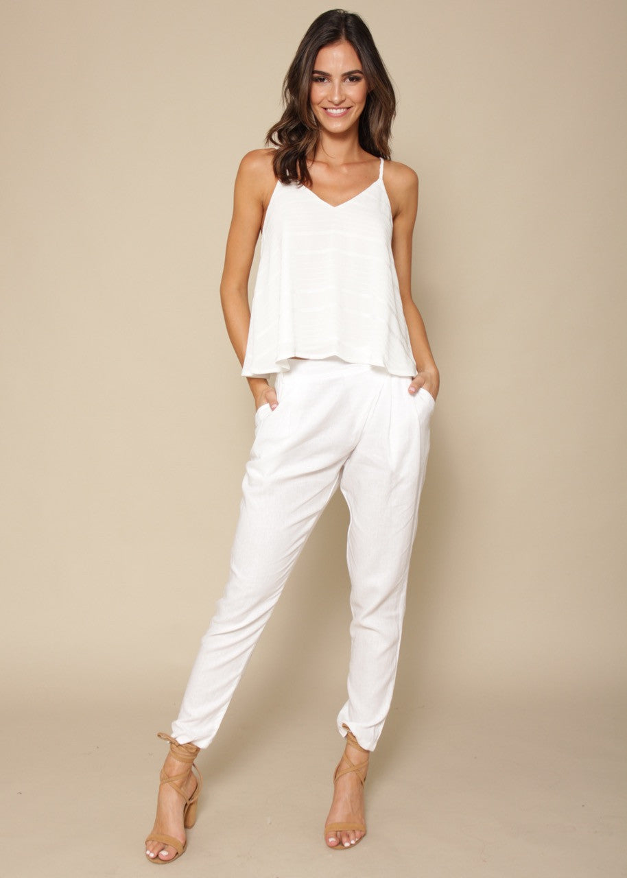 ESJAY Linen Pants - White