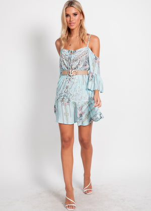 Joan Dress - Turquoise Gem