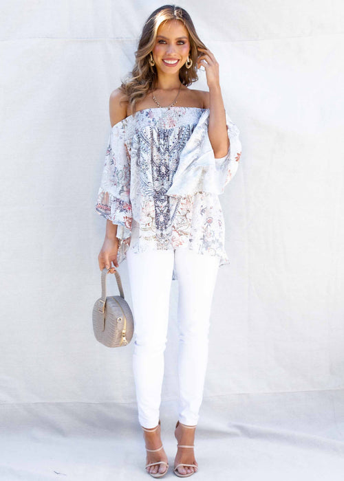 Shreya Off The Shoulder Blouse - Mykonos