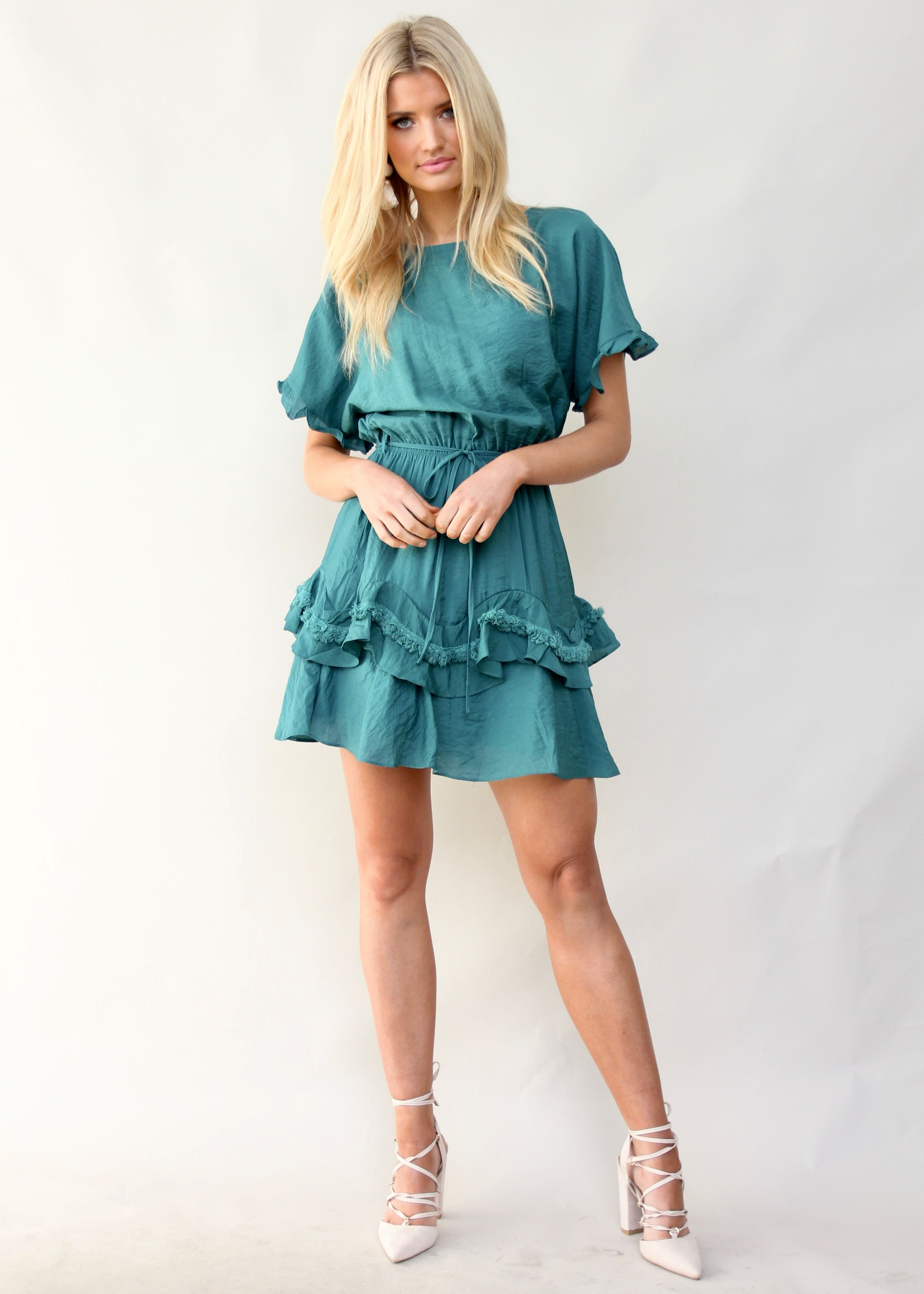 Touch of Glow Dress - Teal