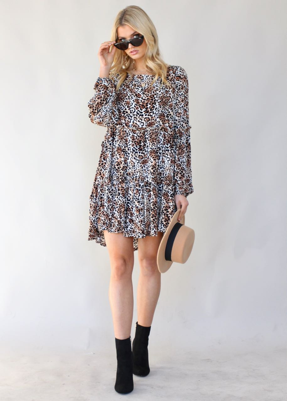 About Time Swing Dress - Leopard