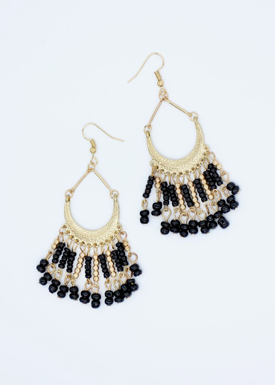 Peru Earrings - Black