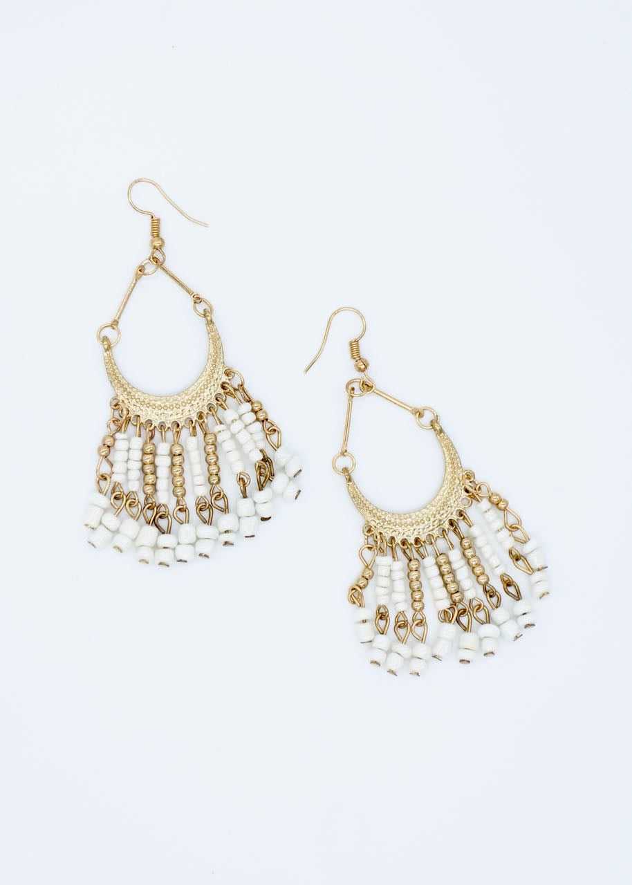 Peru Earrings - White