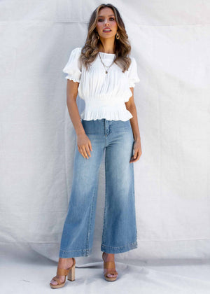 Benji Flare Jeans - Blue Denim
