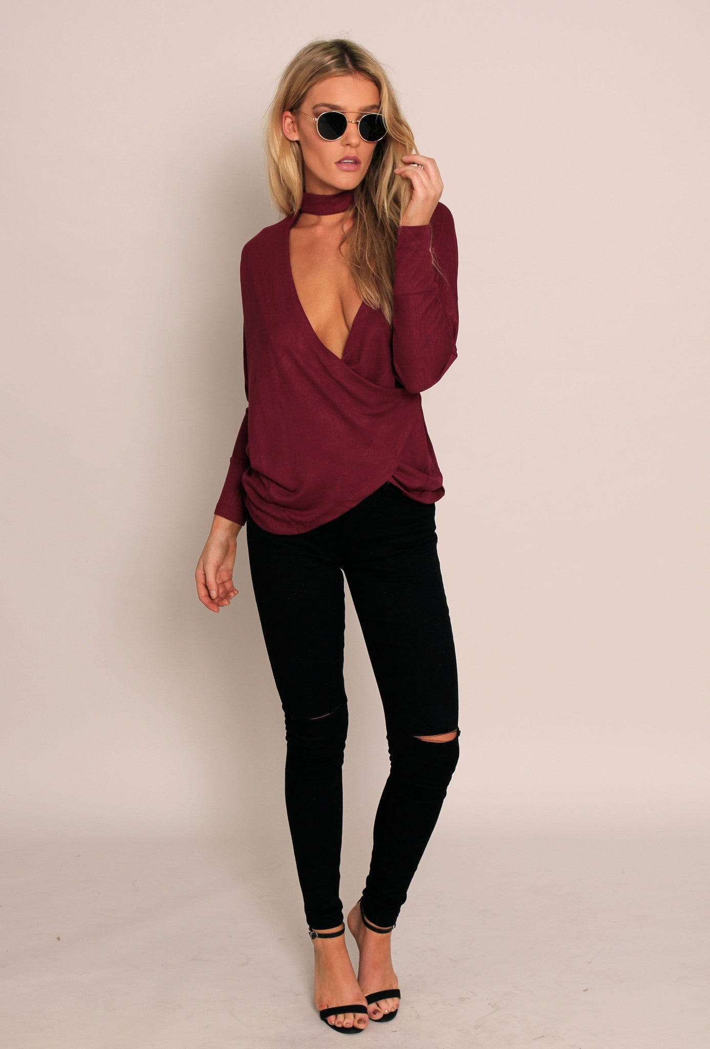 Ruby Reign Top - Wine