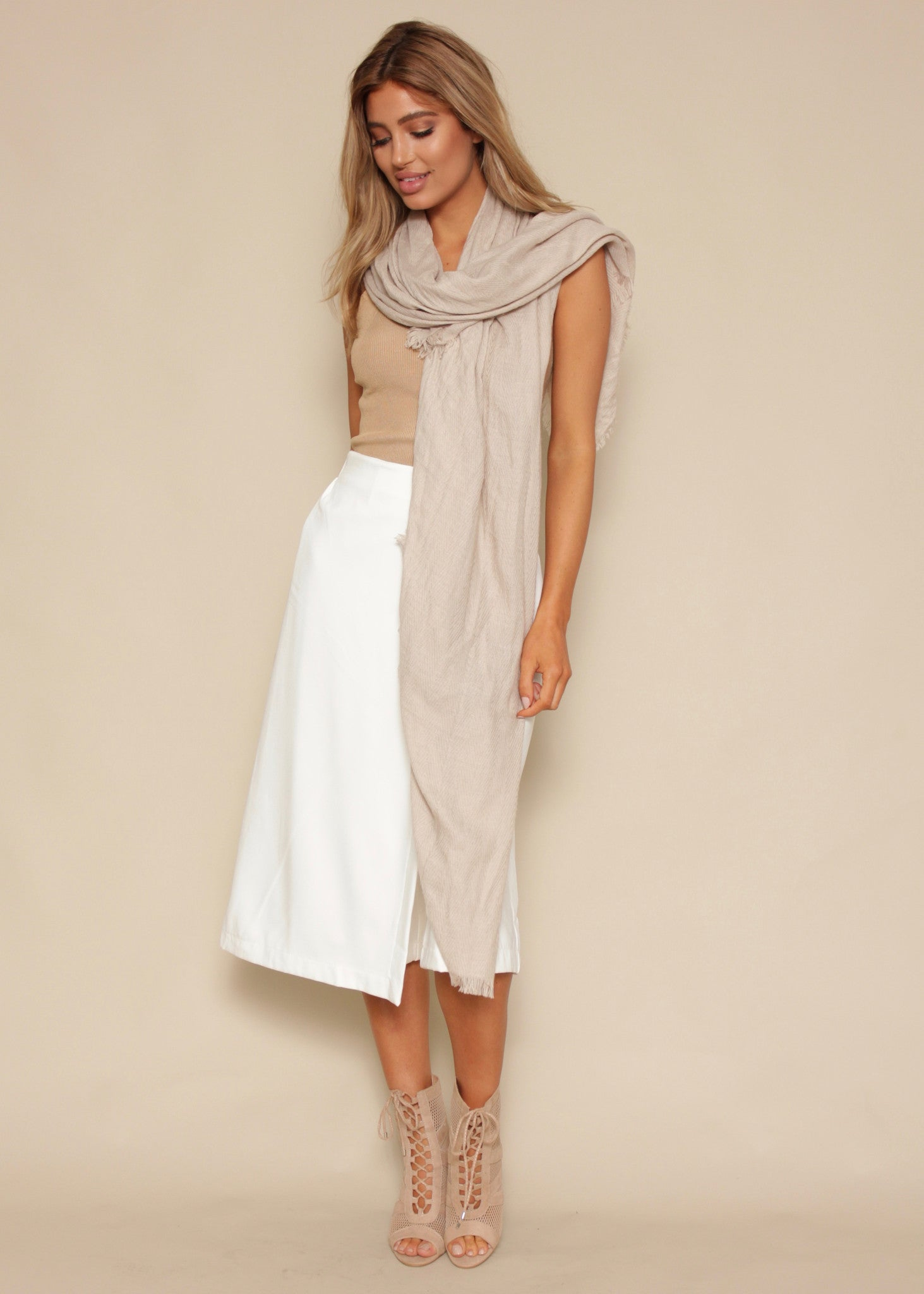 Two Of Us Culottes - White