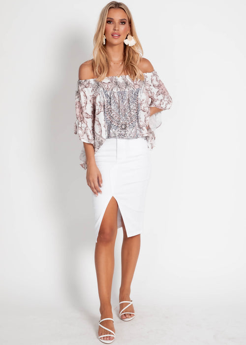 Shreya Off Shoulder Top - Rumenilo