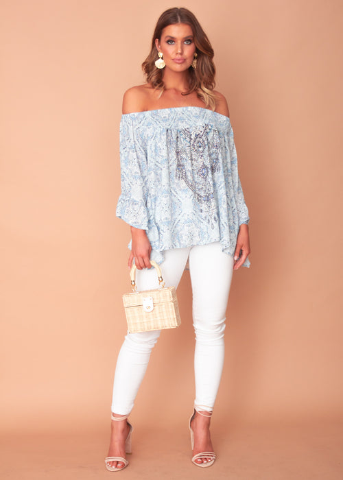 Women's Shreya Off The Shoulder Blouse - Realm