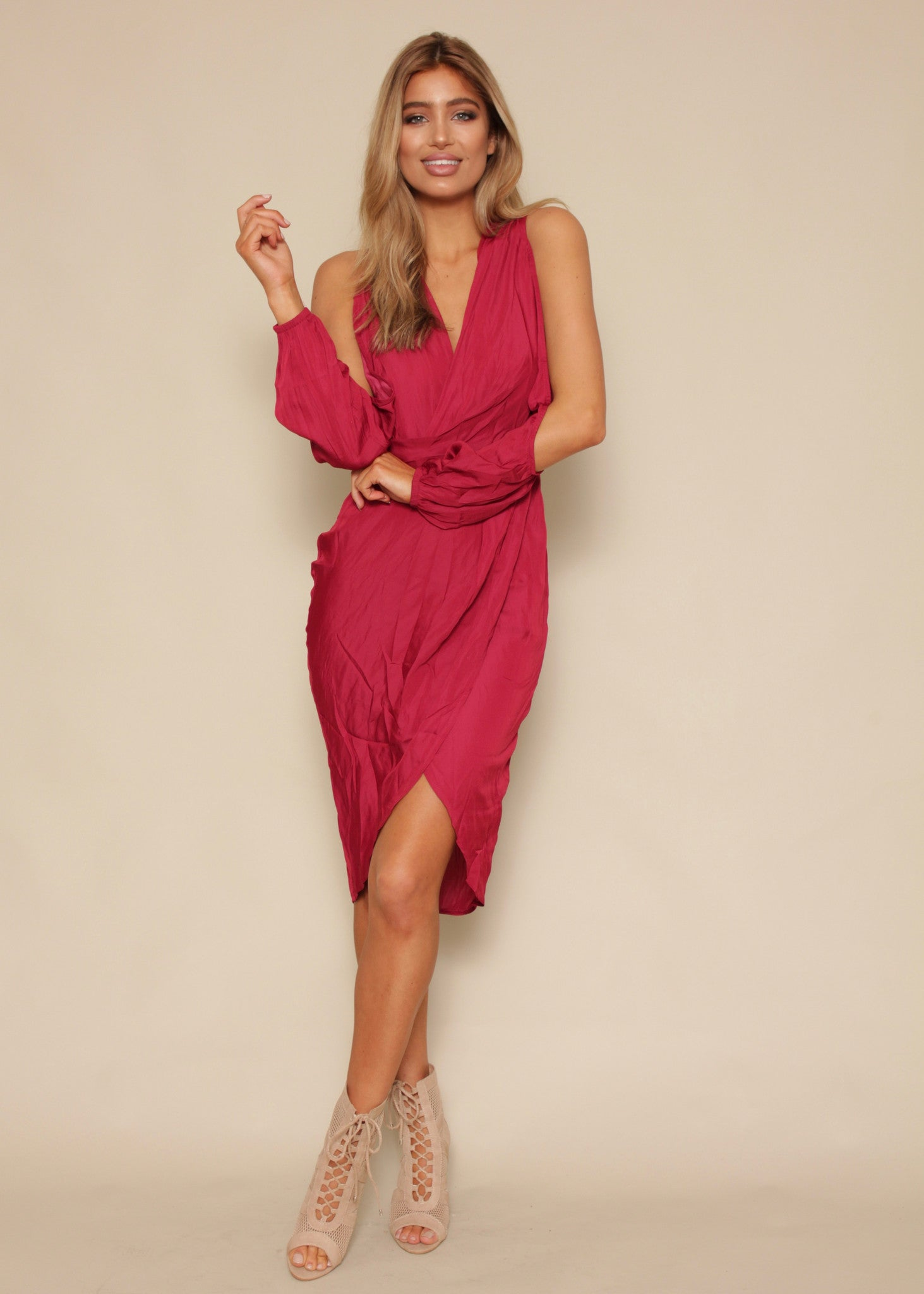 New Love Midi Dress - Ruby