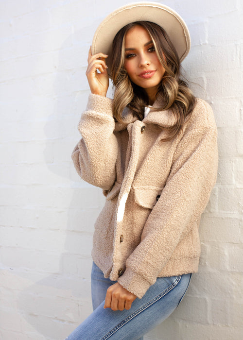 Arlo Teddy Jacket - Tan