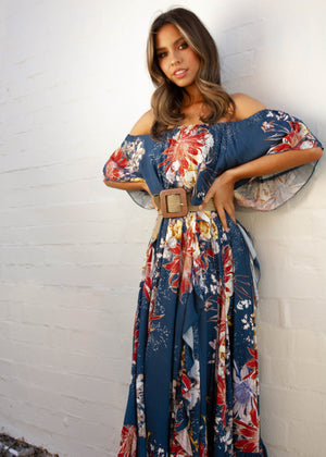 Georgie Off Shoulder Maxi Dress - Liza