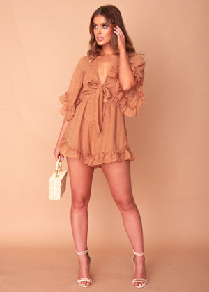 Marisa Playsuit - Tan