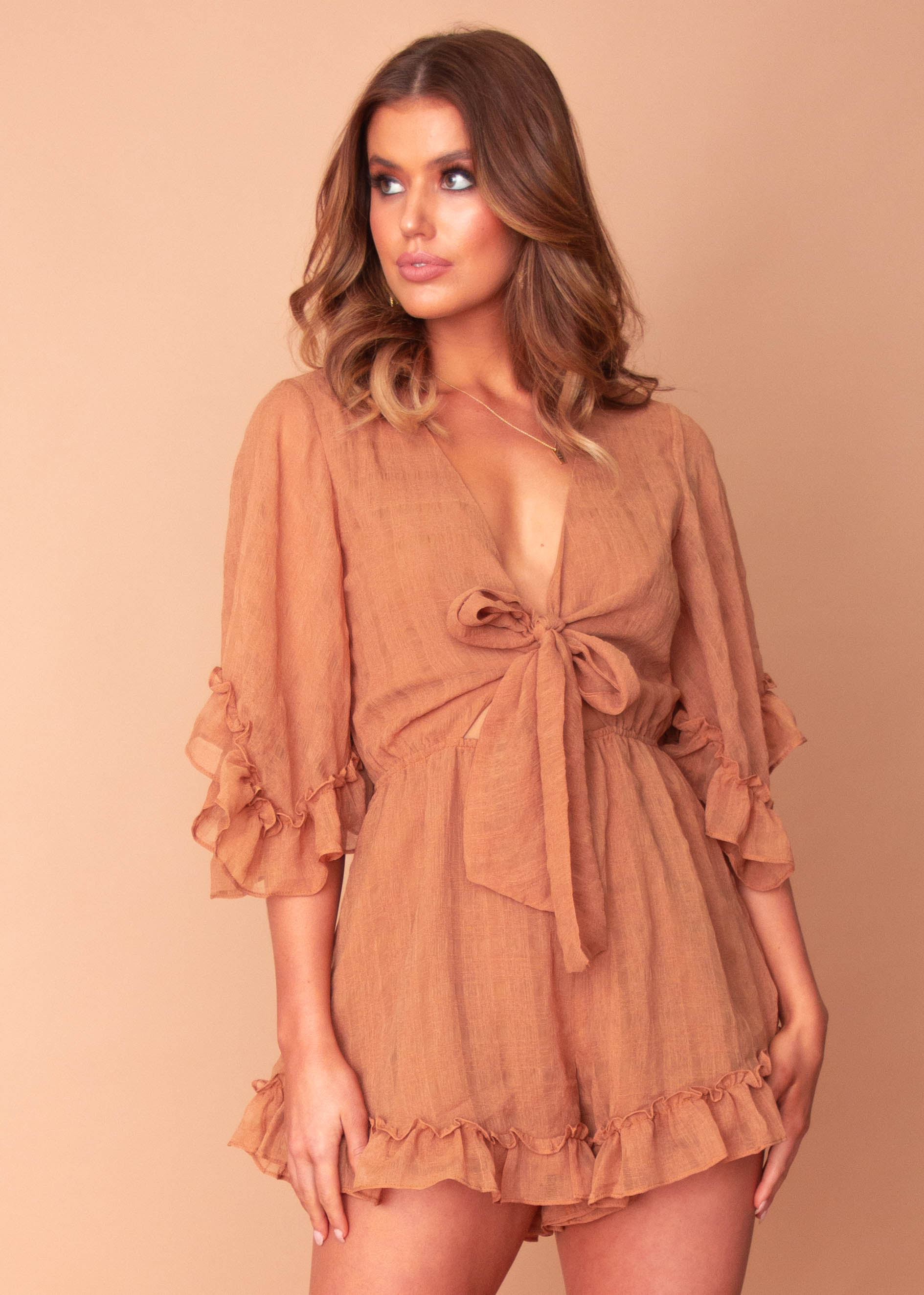 Women's Marisa Playsuit - Tan
