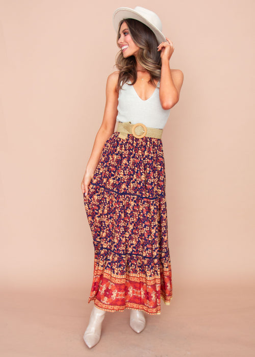 Women's Liloh Maxi Skirt - Evening Bloom