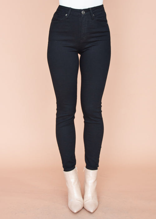 Carsson High Rise Jeans - Black