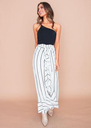 Forever More Pants - White Stripe