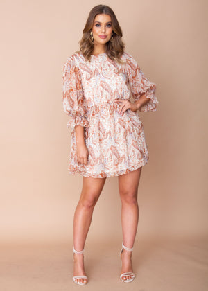 Summer Soul Dress - Maroon Paisley