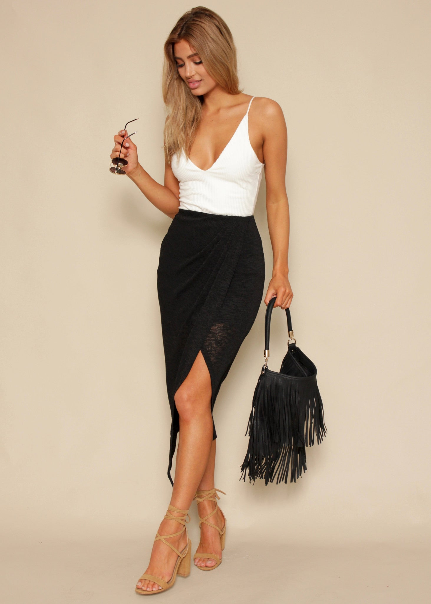 Body Language Midi Skirt - Black