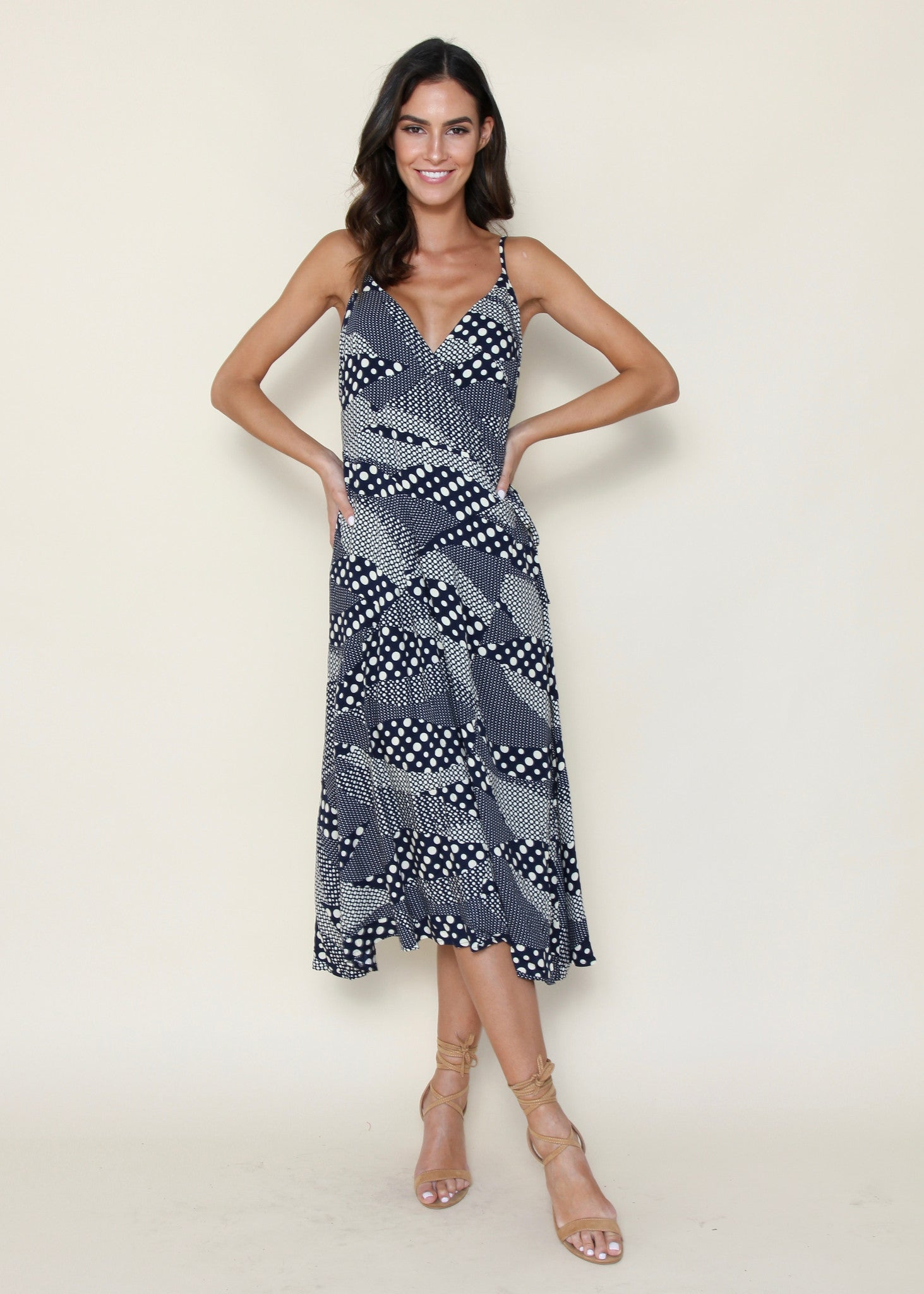 Absolute Lust Midi Dress - Navy Speckle