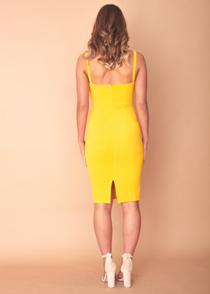 Missing Emotions Midi Dress - Mustard