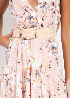Life Changing Maxi Dress - Blush Floral