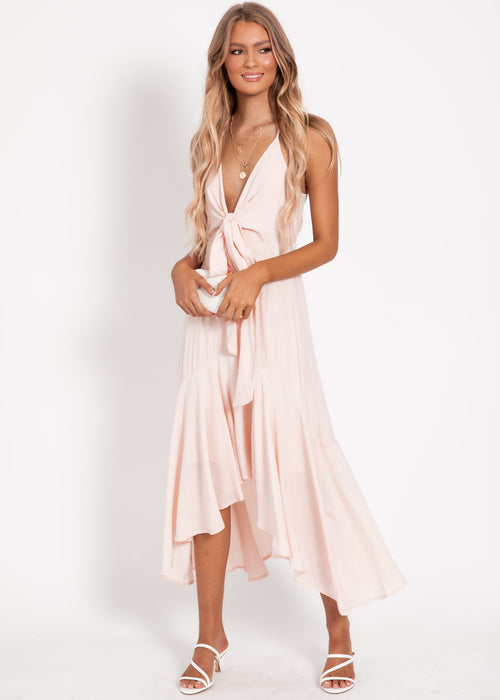 Isabella Midi Dress - Blush