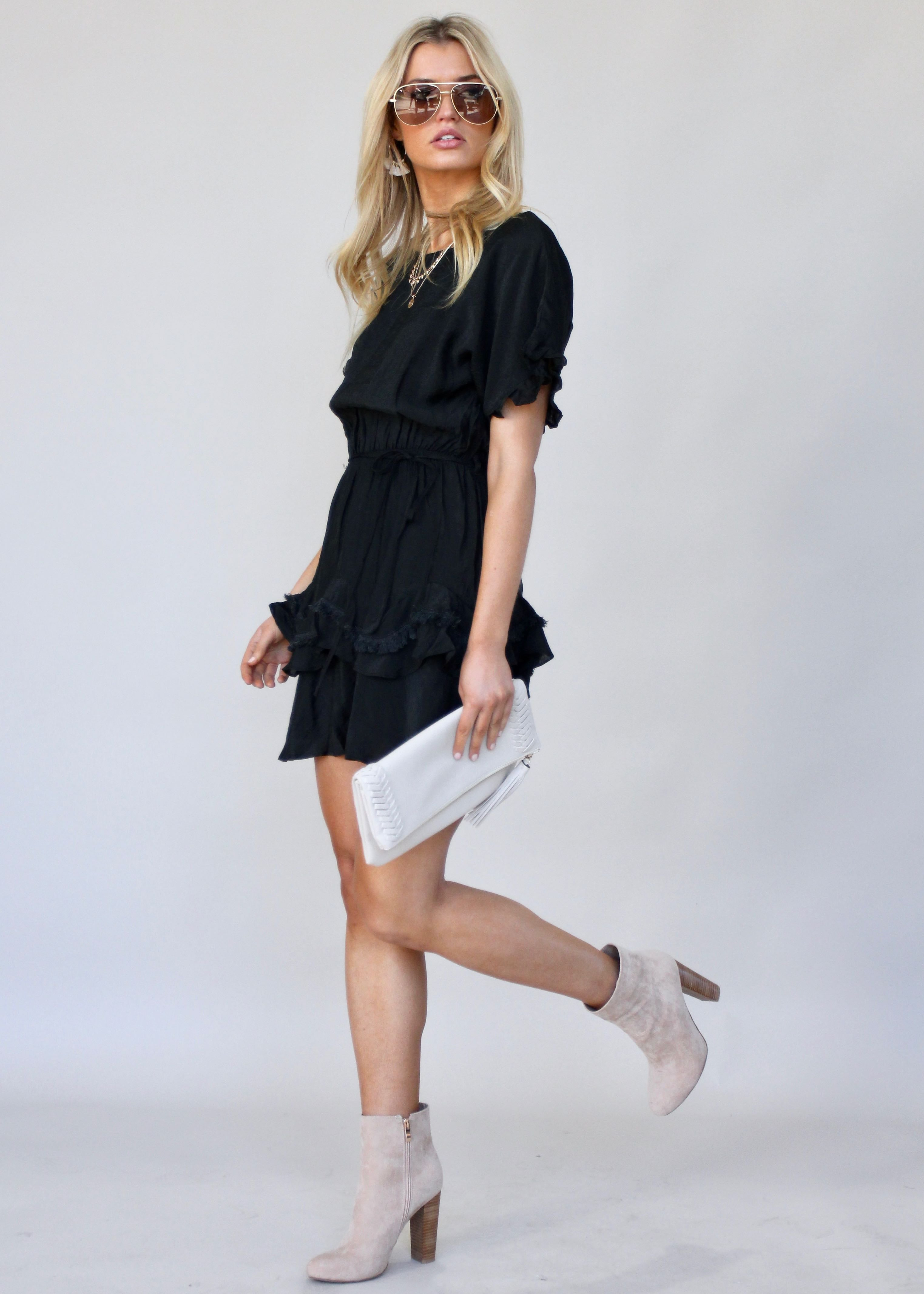 Touch of Glow Dress - Black