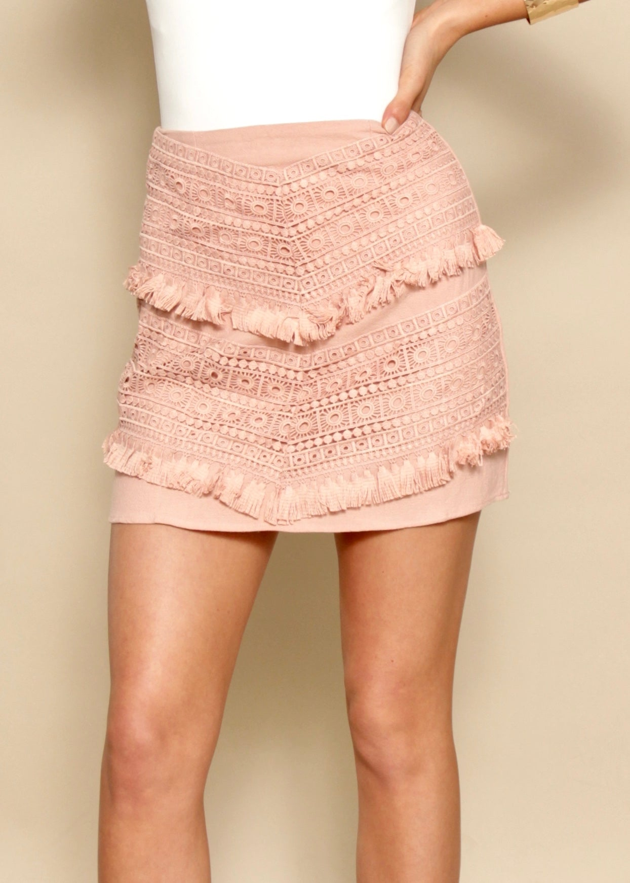 Dream Life Skirt - Blush
