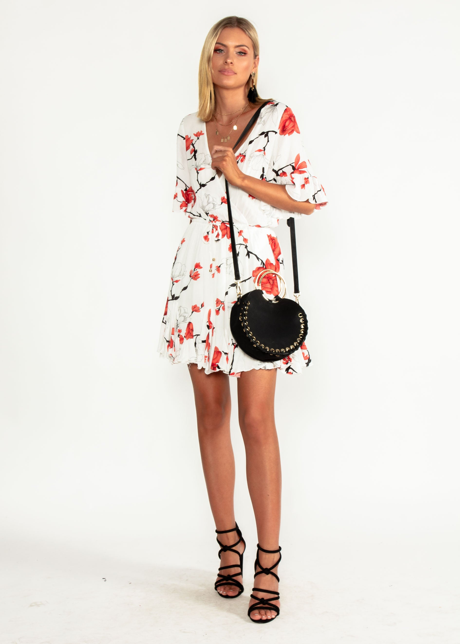 Introducing Me Dress - White/Red Floral