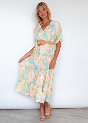 Prisma Maxi Dress - Blue Jade