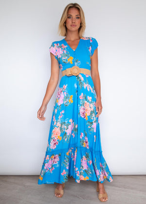 Romi Maxi Dress - Blue Lagoon