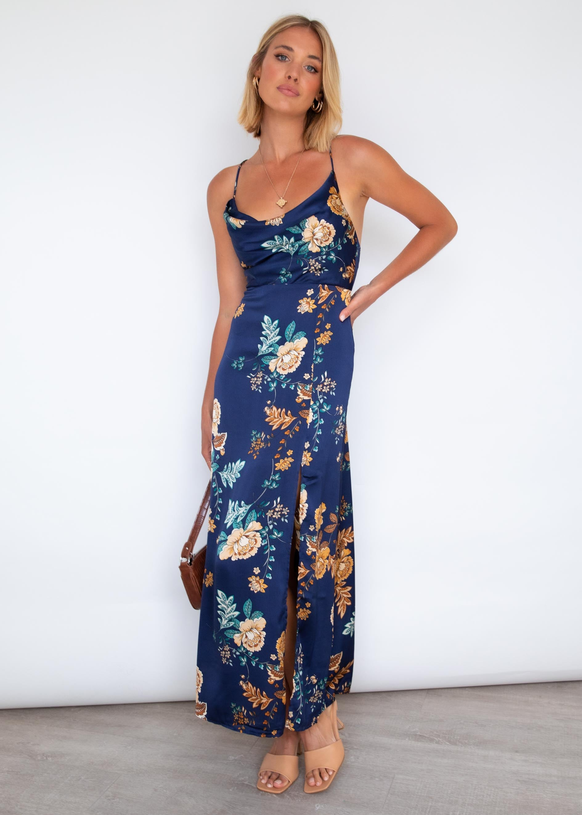 Tamryn Maxi Dress - Navy Blooms
