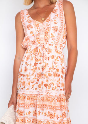 Bad Romance Dress - Peaches & Cream