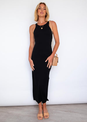 Mon Amie Maxi Dress - Black