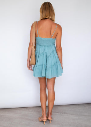 Reata Swing Dress - Sage