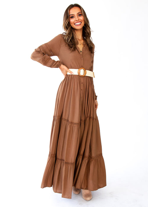 Jaynie Maxi Dress - Mocha - Jaase
