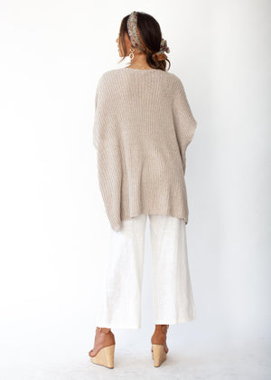 Maia Twist Knit Sweater - Beige
