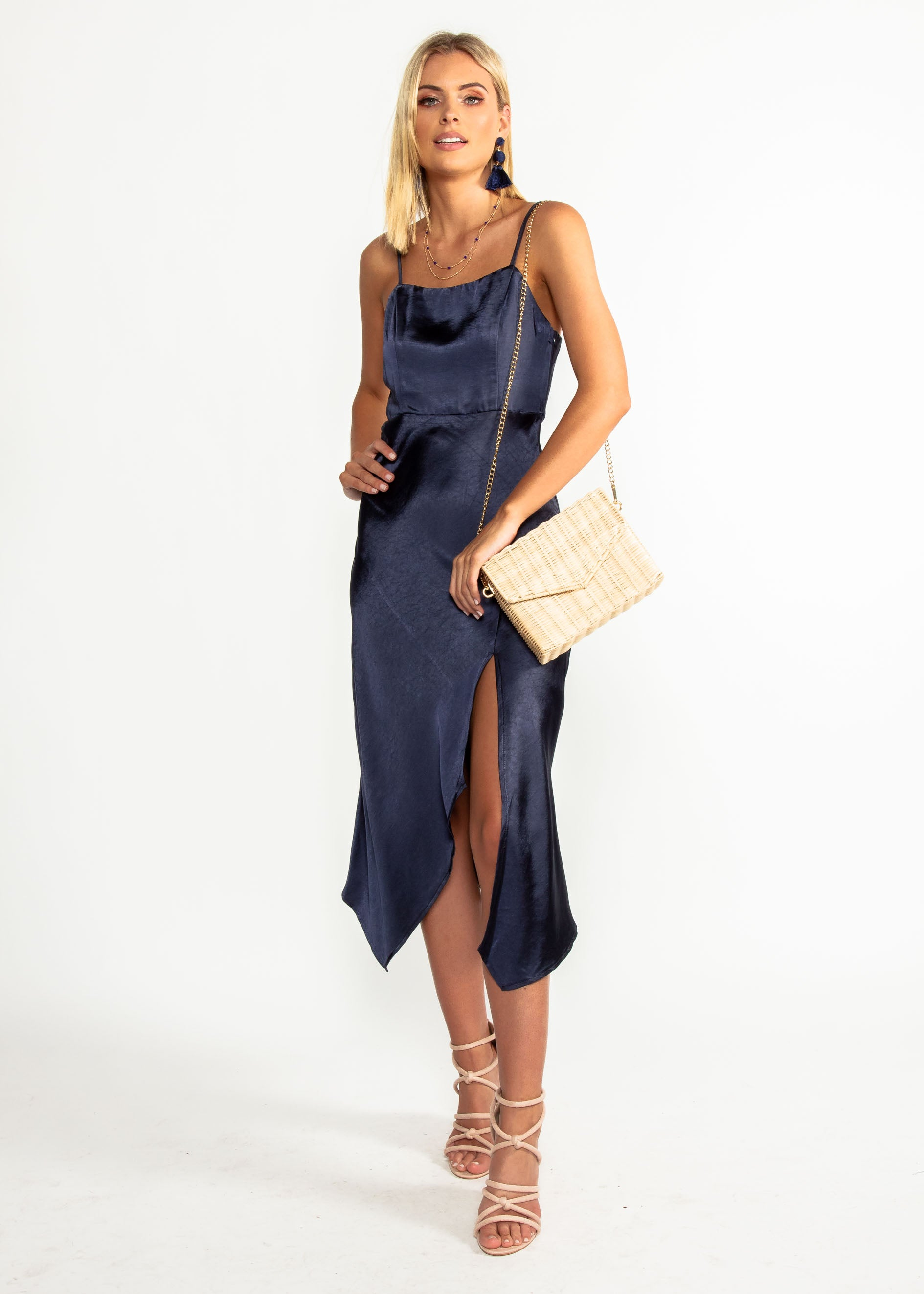 Firestarter Midi Dress - Navy