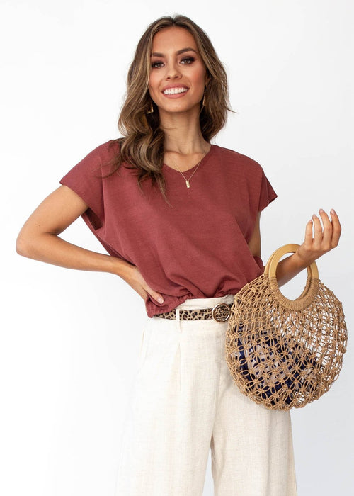 Women's Phoenix Knit Top - Mulberry