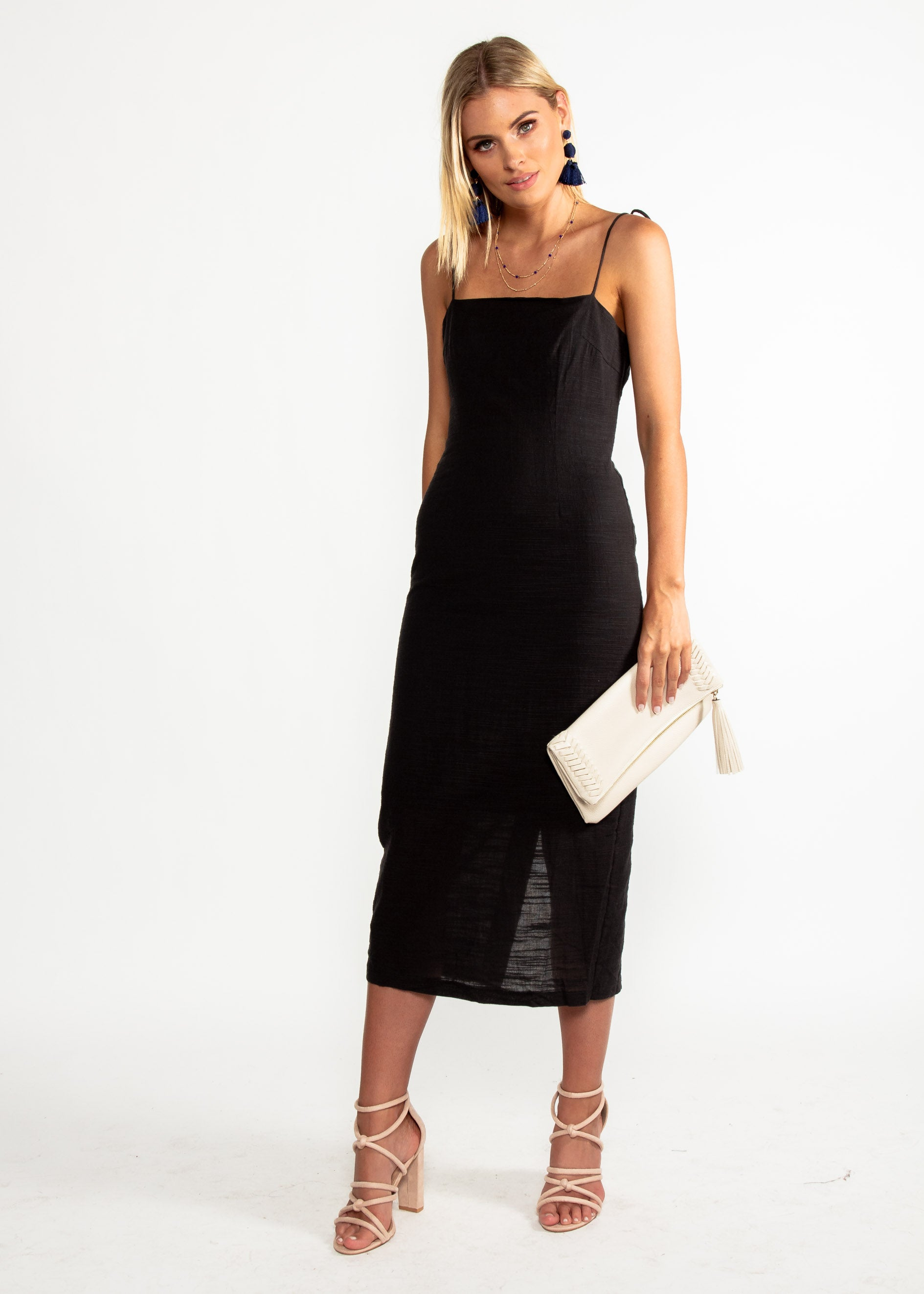 Bound To You Midi Dress - Black
