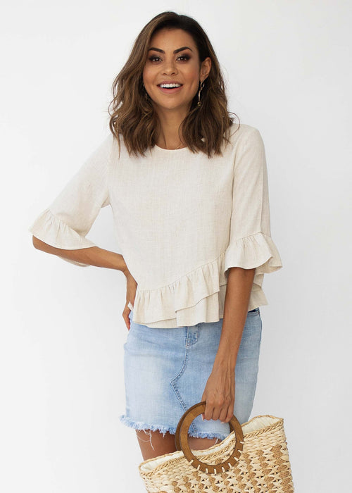 Penny Linen Blouse - Natural