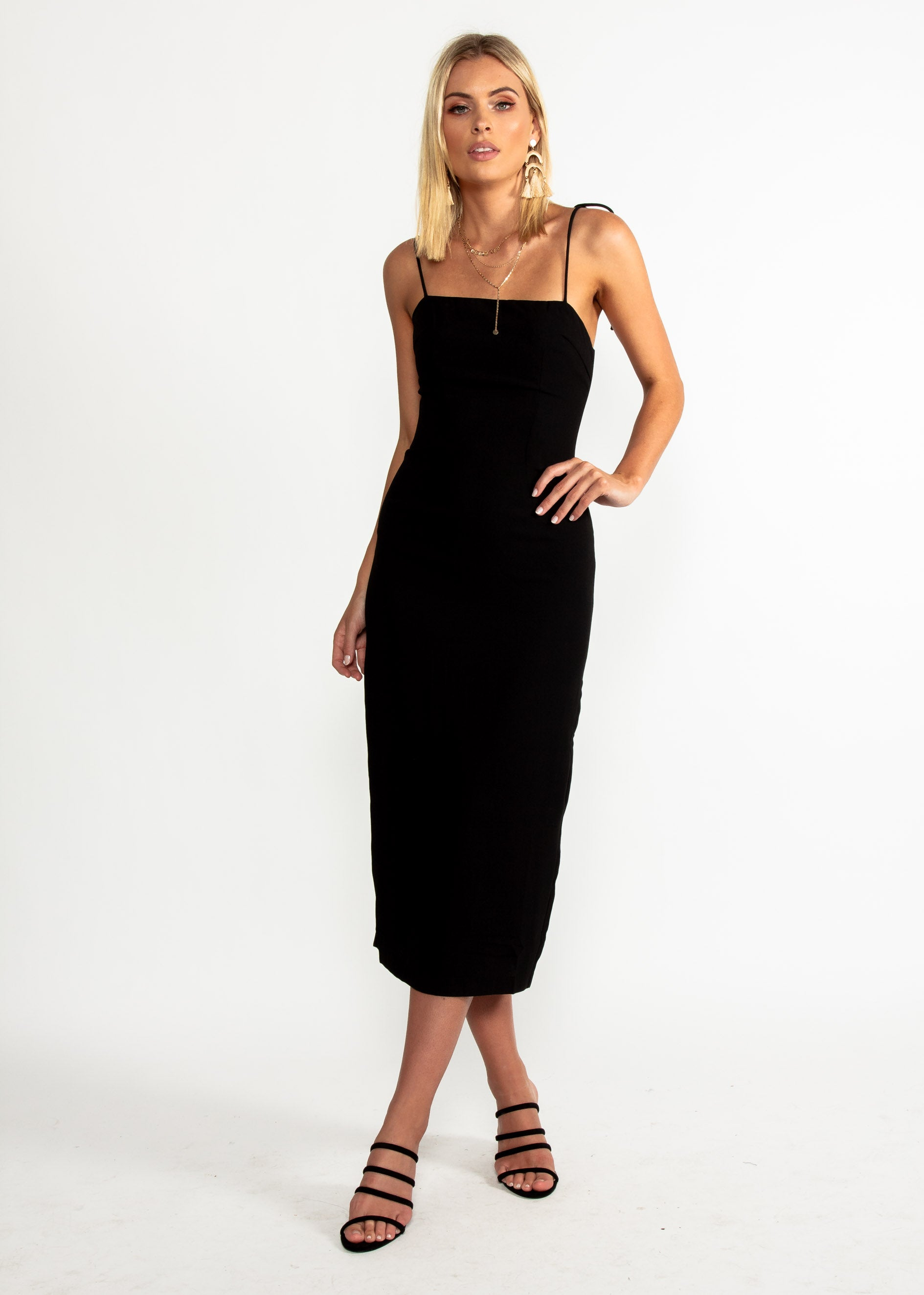 Best Mistake Midi Dress - Black