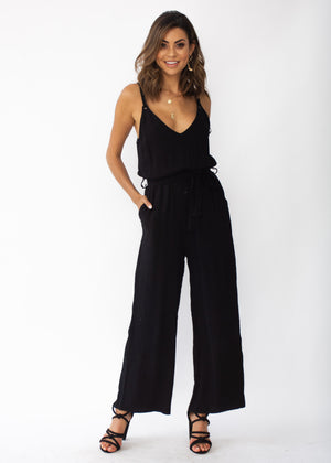 Take Me Higher Pantsuit - Black