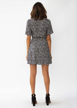 Risk Taker Dress - Black Floral