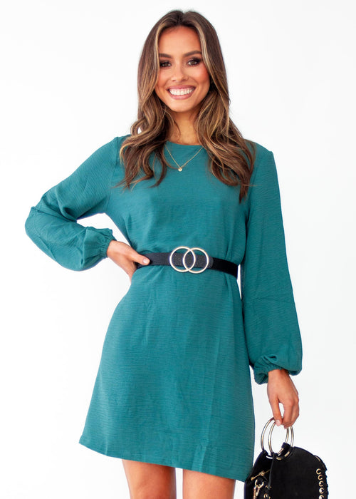 Women's Social Butterfly Shift Dress - Teal